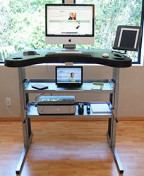 The TrekDesk II Combination Treadmill/Standing/Sit-to-Stand Desk