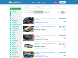 Transfercar search page results