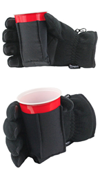 beverage holding glove