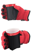 red beverage glove