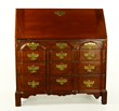 18th century, block front Chippendale Governor Winthrop desk, mahogany with fancy interior, with provenance to the Governor Winthrop family