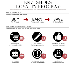 Envi Shoes- Loyalty Program