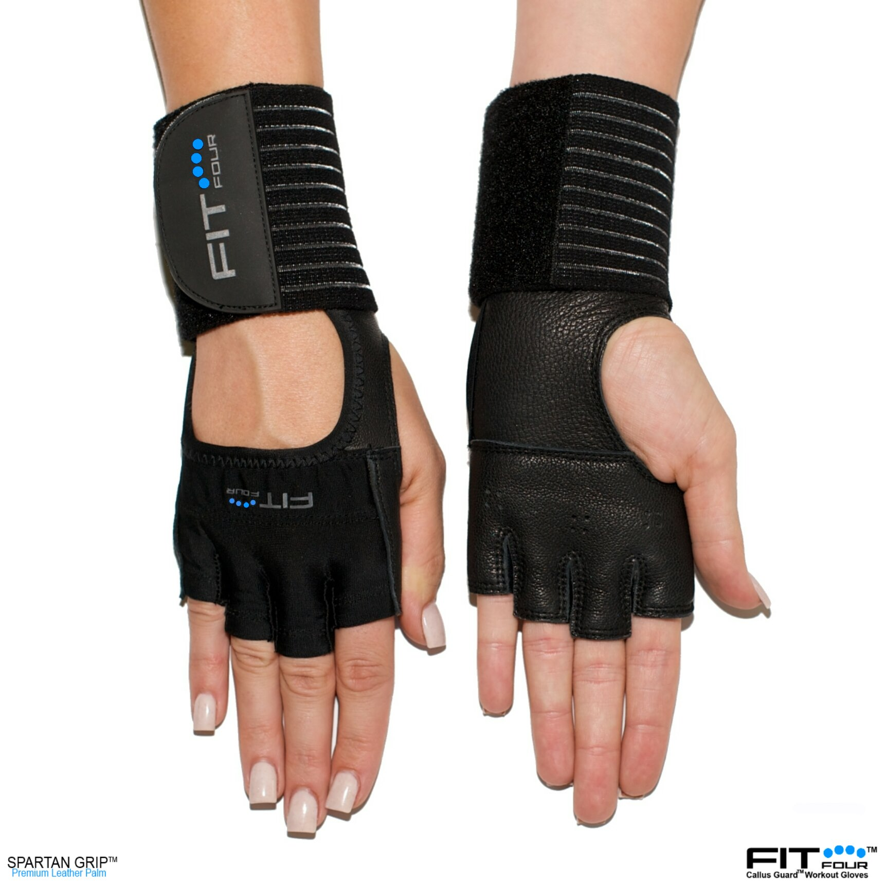 Fit Four The Gripper Fitness Weight Lifting Gloves Black