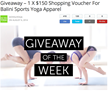 BaliniSports Yoga Clothes Giveaway Events