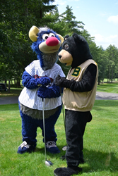 The RailRiders, CHAMP, and Woodlochs, Boomer, got together on the greens for a great cause.
