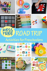 mess free car activities
