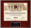 Irvine Trial Lawyer Gregory G. Brown receives AV Preeminent Rating