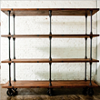 V16 4-Tier Shelving Unit In Reclaimed WOod HGDA135 From Nuevo Living