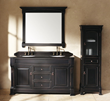 "Brookfield 60"" Double Bathroom Vanity With Cabinet In Antique Black 147-114-5631 from James Martin Furniture"