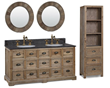 "Recycled Fir 60"" Double Vanity With Cabinet 1560 From InFurniture"