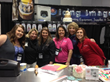 Demonstrators at the Icing Images booth: Whitney Wolfe, Susan Carberry, Michele Hopps, Deborah Coughlin, Peggy Tucker, CMSA, Karen Vazquez