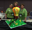 Susan Carberry, Peggy Tucker, CMSA & Pat Jacoby with their Fab Five Competition Cake