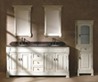 "Brookfield 72"" Double Bathroom Vanity With Cabinet In Cottage White 147-114-5741 From James Martin Furniture"