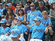 During the opening ceremonies of the Cal Ripken World Series, team members, their families and fans blow Big League Chew Bubble Gum bubbles as they help set the new GUINNESS WORLD RECORDS® title.
