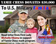 Yamie Chess, Michelle Obama, Jennifer Shahade, Education, Learning, US Military, Army, Air Force, Navy, The White House