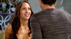 Geometric Triangle Necklace as seen on The Young and The Restless