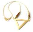 Gold Triangle Necklace on Daytime TV