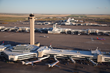 Aerial view of DIA's C Gates, FAA control tower, Gates B and A, and Jeppesen Terminal.  Photograph provided courtesy of Denver International Airport.