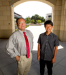 international high school student at Stanford with Kim