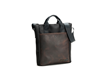 VertiGo 2.0 Laptop Bag—black ballistic nylon with chocolat leather panel
