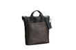 VertiGo 2.0 Laptop Bag—black ballistic nylon with chocolat leather panel