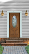 Craftsman-style door surround kit from Fypon installs quickly to add instant curb appeal to the home exterior.