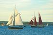 Evening light illuminates the Grand Parade of Sail