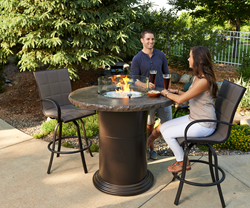 Colonial Pub Gas Fire Pit Table