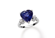 Tanzanite Heart Ring