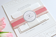 Romantic Embossed Wedding Invitation