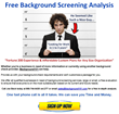 Call Today for a FREE Background Screening Analysis