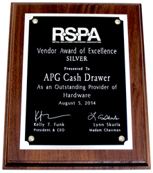 APG Receives Silver Award of Excellence for Outstanding Hardware Provider