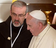 Franciscan Custos Pizzaballas w/ Pope Francis in the Holy Land