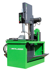 The MetalMizer MV2018 metal cutting saw saves space without compromising production.