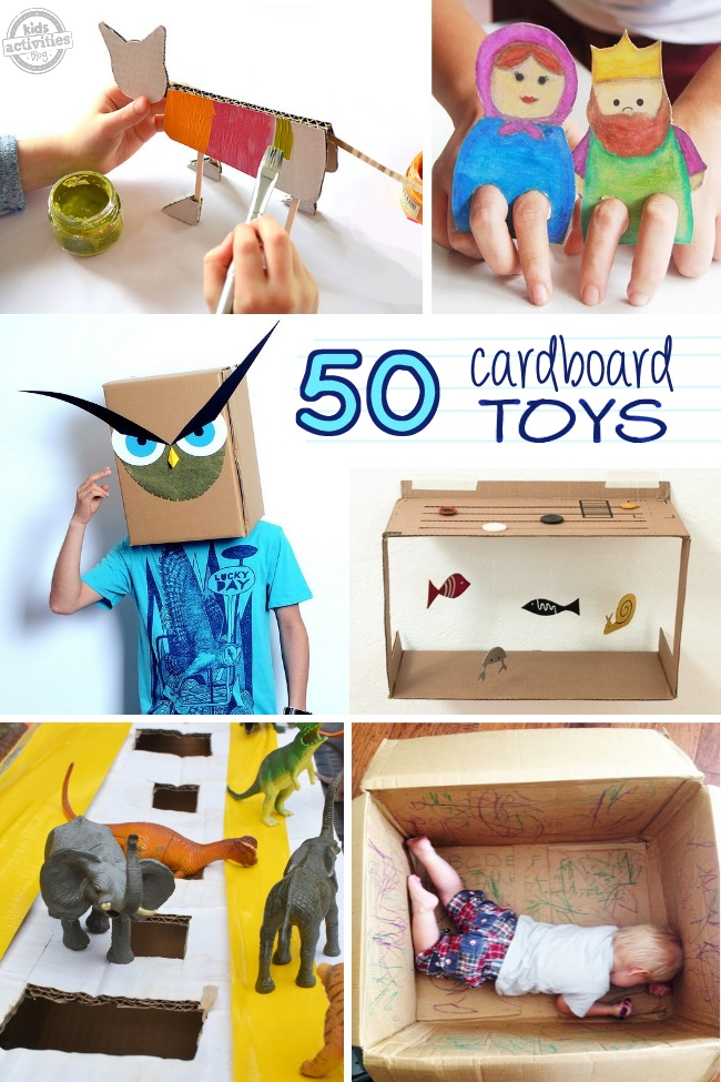 Amazing cardboard box crafts have been released on kids for Craft boxes for children