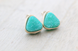 8mm Triangle Druzy Studs from Saressa Designs.