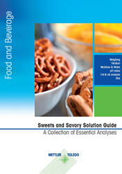 The new METTLER TOLEDO sweets and savory guide will provide best-practice suggestions to enhance testing accuracy and speed.