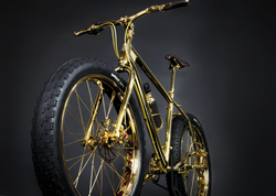The Gold Bike - The World's First 24K Gold Fat Tire Mountain Bike