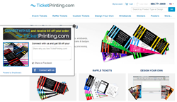 ShopSocially App on TicketPrinting.com