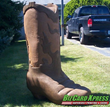 Cowboy Boot Monument Sign- BizCard Xpress