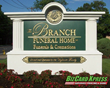 Branch Funeral House Monument Sign- BizCard Xpress