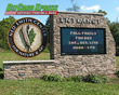 Faux Stone Monument Sign- BizCard Xpress