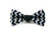 Black Chevron Dog Bow Tie from Four Black Paws.