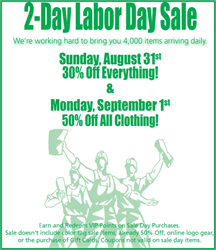 Labor Day Sale at Thrift Town