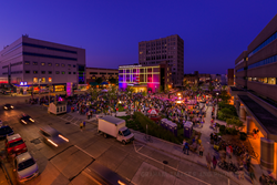 Houdini Plaza of Downtown Appleton was a venue for outdoor shows during the Mile of Music festival