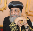 His Holiness Pope Tawadros II, 118th Pope of Alexandria and Patriarch of the See of St. Mark, meets with Coptic Orphans in Cairo, July 12, 2014.