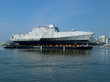 Crowley Heavy Deck Strength Barge Helps Launch U.S. Navy's Newest Littoral Combat Ship, USS Montgomery