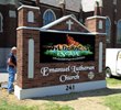 Vizual Express Installs A Monumental LED Sign For Emanuel Lutheran...