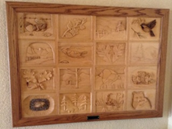Oakhurst Woodcarvers' Rendezvous Wood Quilt