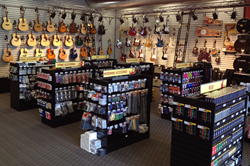 Inside the 3,000 square foot Music & Arts Tomball location.